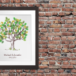 Fingerprint Tree Guestbooks