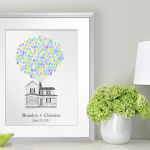 Fingerprint Balloon House Guestbook