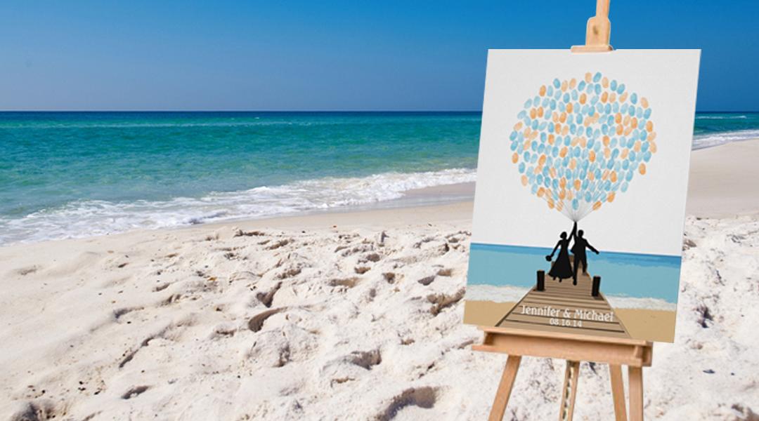 Nothing Mundane | Beach Fingerprint Balloon Guestbook