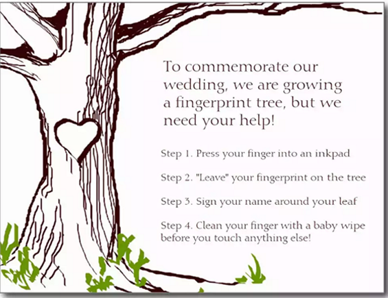 Nothing mundane fingerprint guestbook instruction card fingerprint guestbook instruction card sciox Gallery
