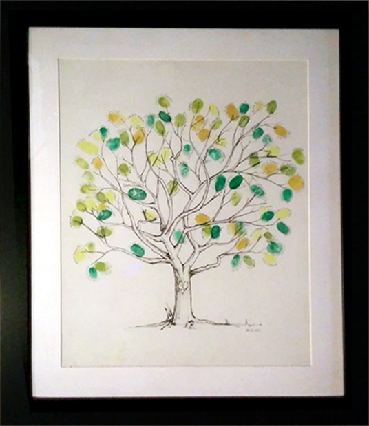 Fingerprint Guestbook Sizing Our Own Wedding Tree